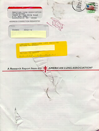 The Cover Below Was Returned With An Address Correction And Demonstrates 1995 Usage By Handstamp Applied USPS Addressee Name Has Been